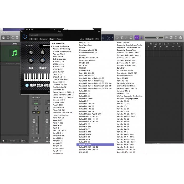 Mega Drum Machines MAC/Win AU/VST 32/64bits - Autodafe net